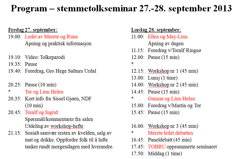 Program seminaret