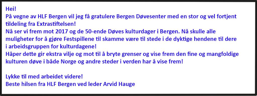 HLF Bergen gratulerer