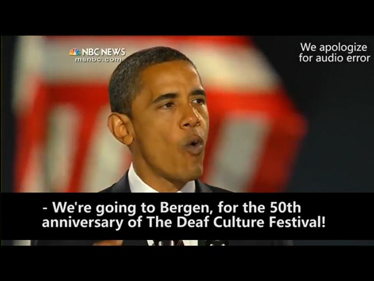 Obama to Bergen