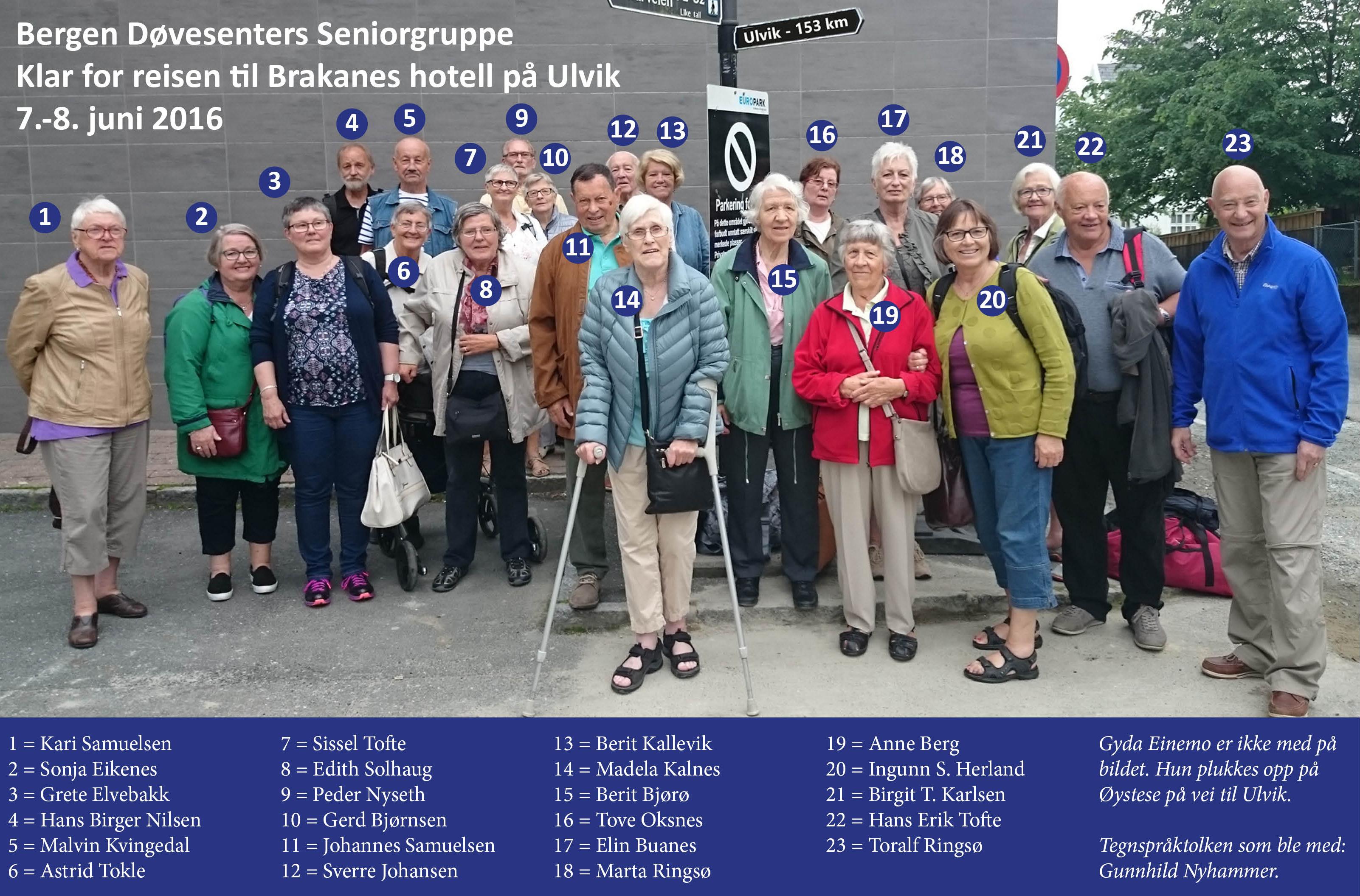 Senior på tur til Ulvik 2016