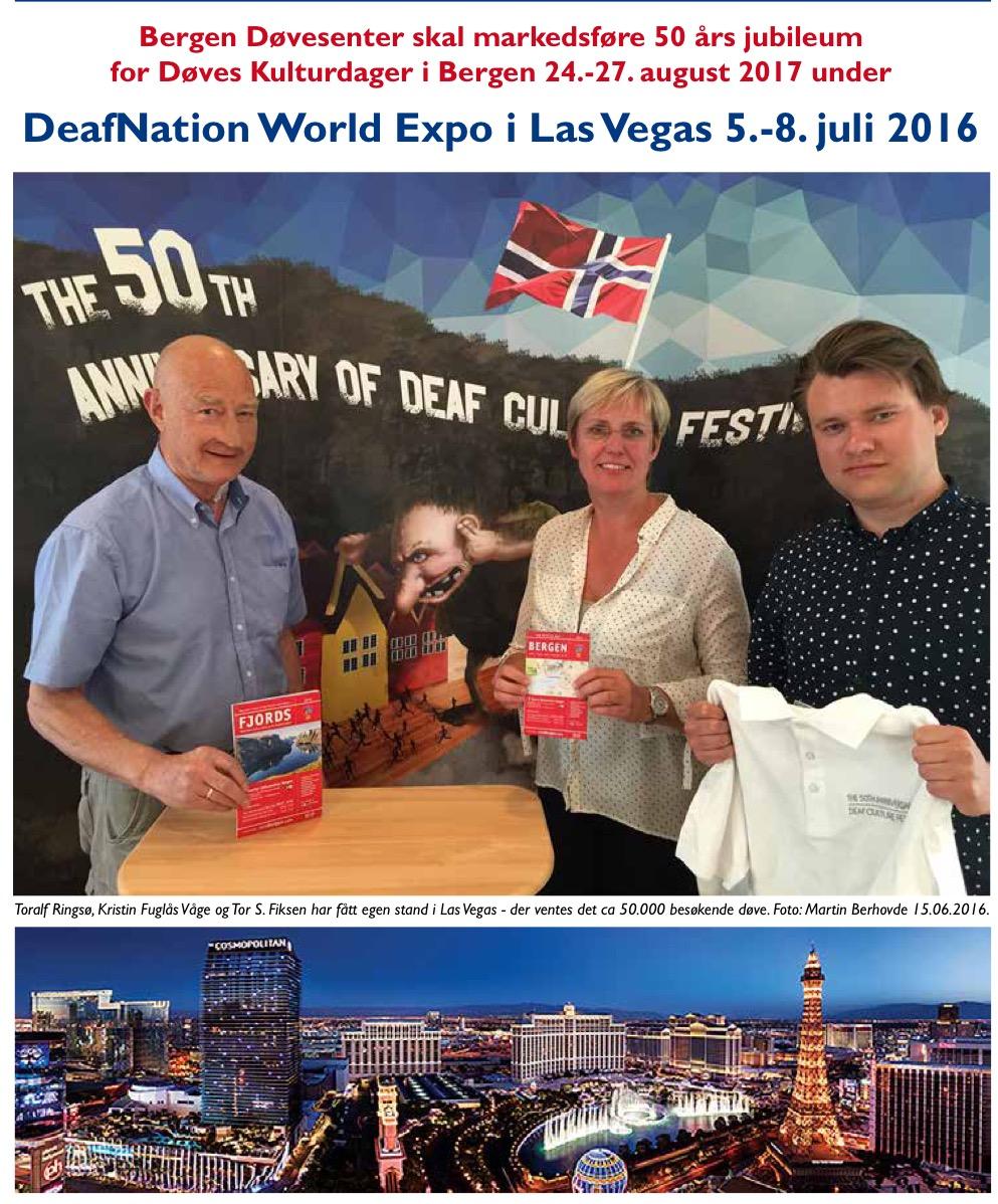 Tre fra Bergen til Las Vegas